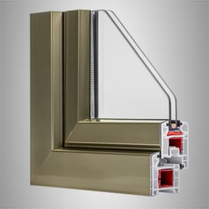 پنجره دو جداره با روکش آلومینیوم